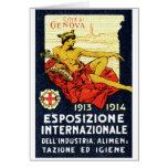 1913 Genova Expo Poster Greeting Card