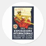 1913 Genova Expo Poster Stickers