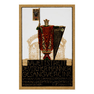1913 German Choral Society Poster