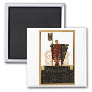1913 German Choral Society Poster 2 Inch Square Magnet