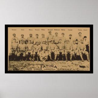 1913 New York Giants Fatima Tobacco Card Poster