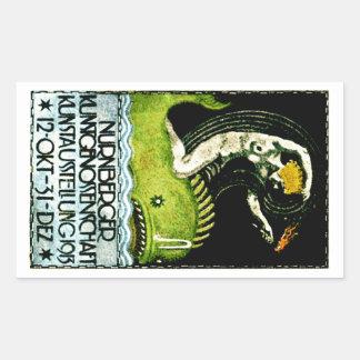 1913 Nurnberg Germany Art Exhibit Poster Rectangular Sticker
