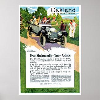 1913 Oakland Classic Car Poster