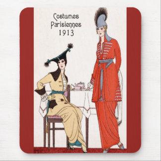 1913 Parisian Fashion Mouse Pad