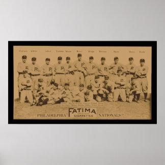 1913 Philadelphia Philles Tobacco Card Poster