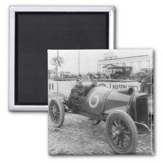 1913 Race Car 2 Inch Square Magnet