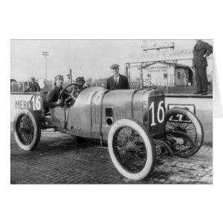 1913 Race Car Greeting Card