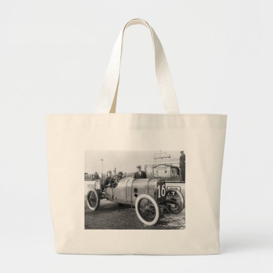1913 Race Car Large Tote Bag