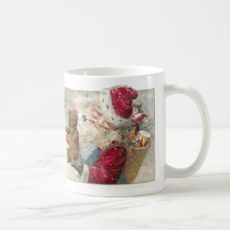 1913 Santa with Teddy Bear and Pipe Coffee Mug
