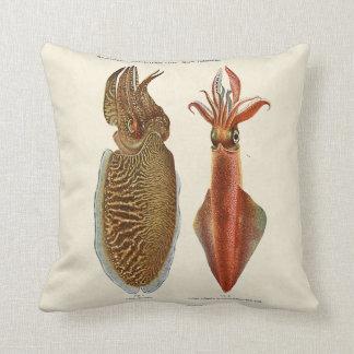 1913 Sepia und Octopus Pillow