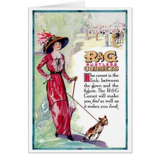 1913! SPRING FASHION ADVERTISEMENT GREETING CARD