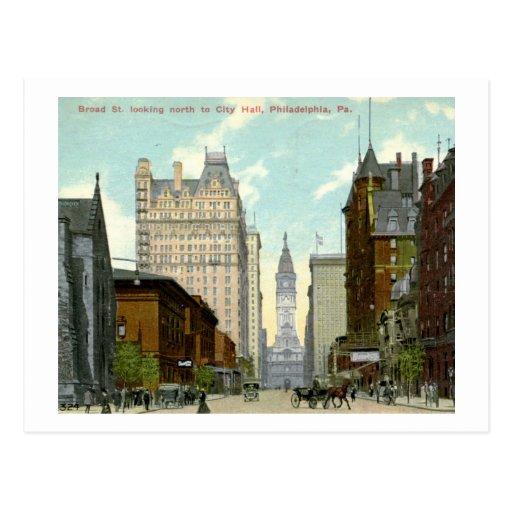 1913 St. amplio, vintage de Philadelphia Tarjetas Postales