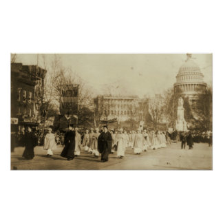 1913 Suffragette Parade in Washington D.C. Poster