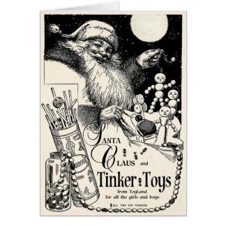 "1913 ""TINKER TOY"" 'N SANTA ADVERTISEMENT CARD"