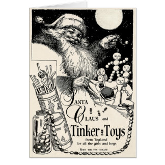 1913 VERY MERRIE TINKER TOY CHRISTMAS GREETING CARD