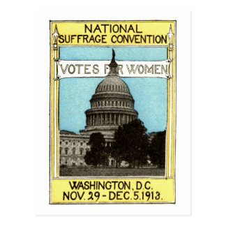 1913 votos para las mujeres postal