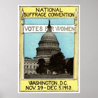 1913 votos para las mujeres póster