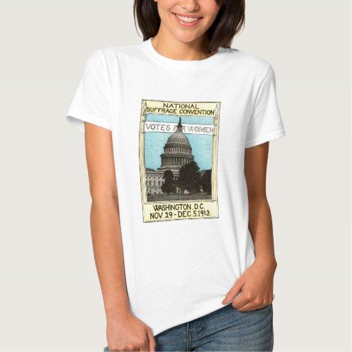 1913 votos para las mujeres tee shirt