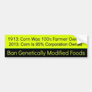 1913 vs 2013 GMO Corn Car Bumper Sticker