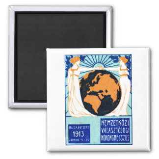 1913 Womans Right to Vote 2 Inch Square Magnet
