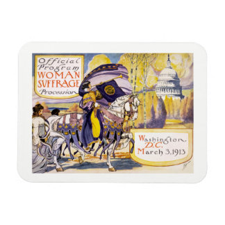 1913 Women's rights march Washington DC Magnet