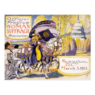 1913 Women's rights march Washington DC Postcard