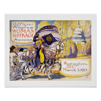 1913 Women's rights march Washington DC Poster
