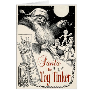 1913TINKER TOY ADVERTISEMENT-SANTA THE  TOY TINKER GREETING CARD
