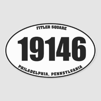 19146 Fitler Square Phila PA oval stickers