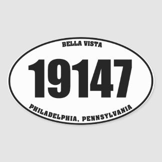 19147 - Bella Vista Philadelphia PA Oval Sticker