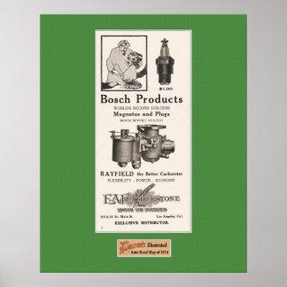 1914 Auto Parts Advertisement - Bosch Poster