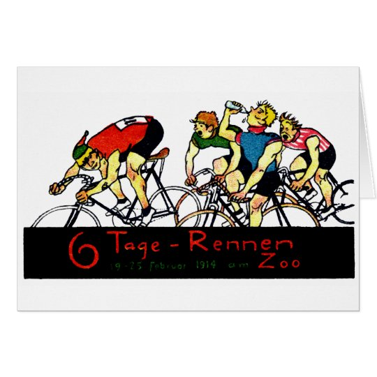 1914 Bicycle Race Poster Card