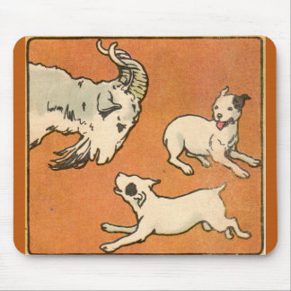 1914 billygoat and dogs mouse pad