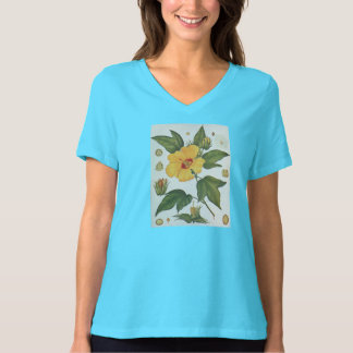 1914 Botanical image of a Sea Island Cotton flower T-Shirt