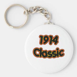1914 Classic Basic Round Button Keychain