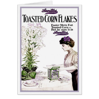 "1914!!! ""CORN FLAKES ON EASTER MORN"" ADVERTISEMENT CARD"