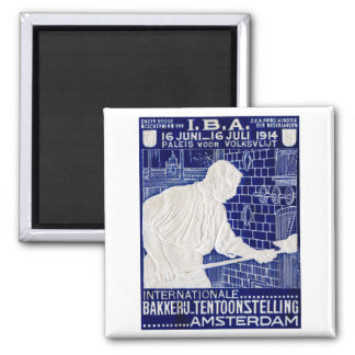 1914 Dutch Baking Expo Poster 2 Inch Square Magnet