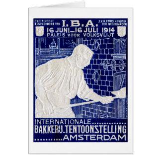 1914 Dutch Baking Expo Poster Card