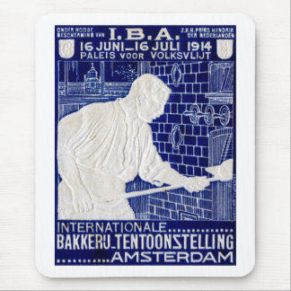 1914 Dutch Baking Expo Poster Mouse Pad