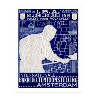 1914 Dutch Baking Expo Poster Post Cards