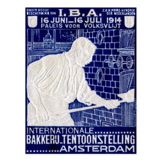 1914 Dutch Baking Expo Poster Postcard