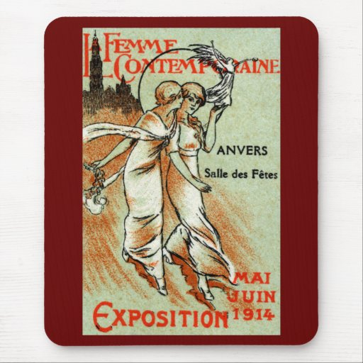 1914 Expo for The Modern Woman Mouse Pad