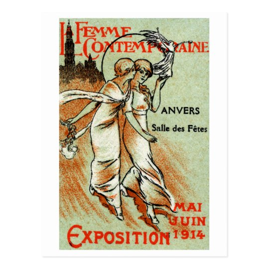 1914 Expo for The Modern Woman Postcard