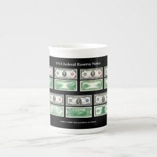 1914 Federal Reserve Notes Chart Porcelain Mug