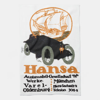 1914 Hansa Automobile Hand Towels