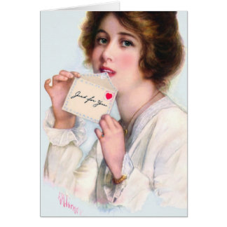 """1914! """"IMPRESSIONS OF THE HEART"""" VINTAGE VALENTINE CARD"""