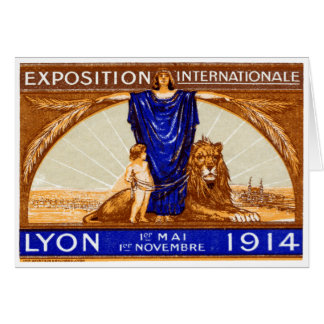 1914 Lyon International Expo Poster Stationery Note Card