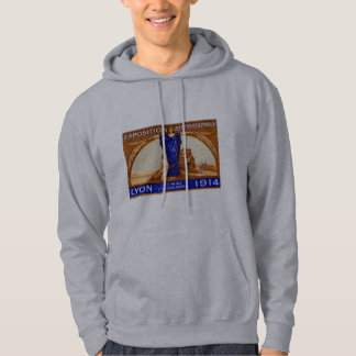 1914 Lyon International Expo Poster Hooded Pullover