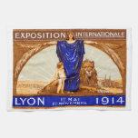 1914 Lyon International Expo Poster Towels
