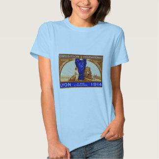 1914 Lyon International Expo Poster Tshirts